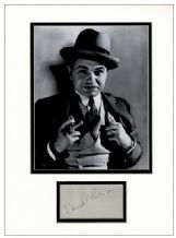 Edward G Robinson Autograph Signed Display
